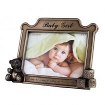 【英國 Genesis】冷鑄銅 5 x 7 相框 - Baby Girl