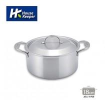 【妙管家】Bergen五層複合金不鏽鋼雙柄湯鍋18cm