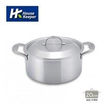 【妙管家】Bergen五層複合金不鏽鋼雙柄湯鍋20cm