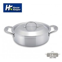 【妙管家】Bergen五層複合金不鏽鋼雙柄湯鍋24cm