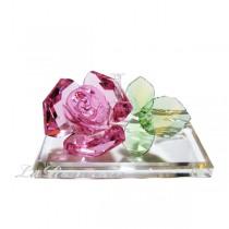 【芮洛蔓 La Romance】璀璨水晶粉色玫瑰花