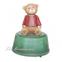 【德國 Heidi 童趣家飾】紅衣寶貝熊音樂盒