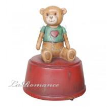 【德國 Heidi 童趣家飾】綠衣寶貝熊音樂盒