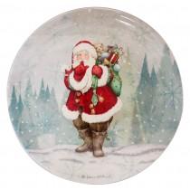 【義大利 Palais Royal 聖誕系列】聖誕老公公白底圓盤