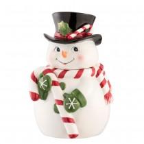 【義大利 Palais Royal 聖誕系列 】雪人拿糖果棒密封罐
