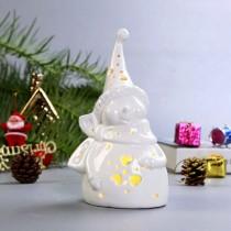 【英國 BELLEEK LIVING 】聖誕雪人LED燈  A款