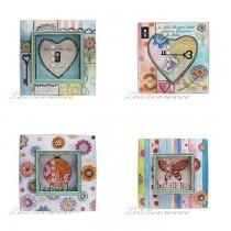 【Creative Home】Nikky Home 花言童語系列 - 愛心鎖木板畫飾