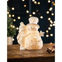 【英國 BELLEEK LIVING 聖誕系列】雙雪人LED夜燈