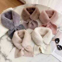 【圍巾圍脖】蝴蝶結圍巾✧黑、灰、白、粉、杏、可可共6色