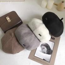 【南瓜帽】羊毛呢南瓜帽