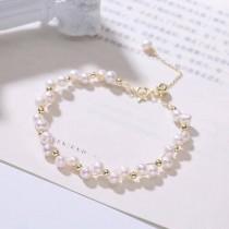 【韓國美飾】超美設計款天然淡水珍珠手鍊