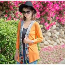【EYWA】陽光美肌防曬外套 披肩款橘