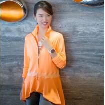 【EYWA】陽光美肌防曬外套 設計款橘