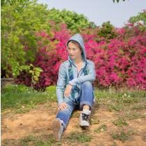 【EYWA】陽光美肌防曬外套 連帽款藍