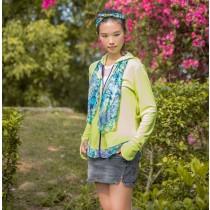 【EYWA】陽光美肌防曬外套 連帽款綠