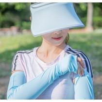 【EYWA】陽光美肌防曬三件組 - 帽 袖套 面罩