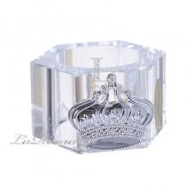 【芮洛蔓 La Romance】奢華鍍銀皇冠水晶餐巾環 (單個)
