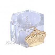 【芮洛蔓 La Romance】奢華鍍金皇冠水晶餐巾環 (單個)