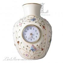 【芮洛蔓 La Romance】Luxury Art 水晶彩蝶系列花瓶時鐘